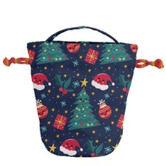 Colorful Funny Christmas Pattern Drawstring Bucket Bag