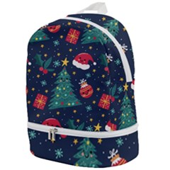 Colorful Funny Christmas Pattern Zip Bottom Backpack