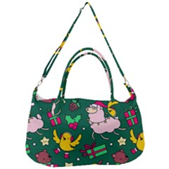 Funny Decoration Christmas Pattern Background Removal Strap Handbag