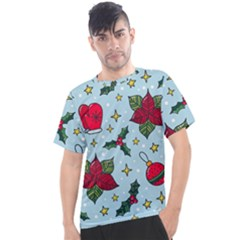 Colorful Funny Christmas Pattern Men s Sport Top