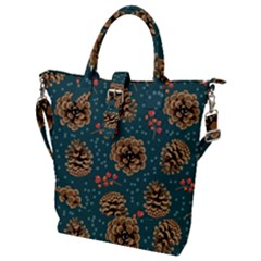 Christmas Seamless Pattern Buckle Top Tote Bag