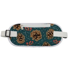 Christmas Seamless Pattern Rounded Waist Pouch
