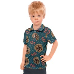 Christmas Seamless Pattern Kids  Polo Tee