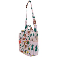 Colorful Funny Christmas Pattern Crossbody Day Bag