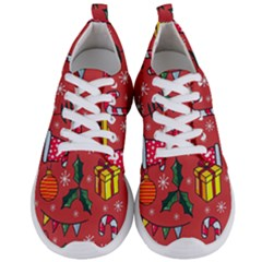 Colorful Funny Christmas Pattern Men s Lightweight Sports Shoes