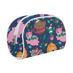 Funny Animal Christmas Pattern Makeup Case (small)