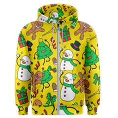 Funny Decoration Christmas Pattern Men s Zipper Hoodie