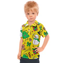 Funny Decoration Christmas Pattern Kids  Polo Tee