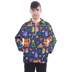 Colorful Funny Christmas Pattern Men s Half Zip Pullover
