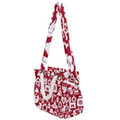 Christmas Seamless Pattern Icons Rope Handles Shoulder Strap Bag by Vaneshart
