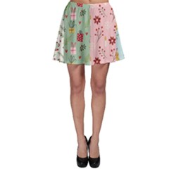 Flat Christmas Pattern Collection Skater Skirt