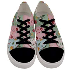Flat Christmas Pattern Collection Men s Low Top Canvas Sneakers