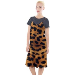 Leopard Skin Pattern Background Camis Fishtail Dress