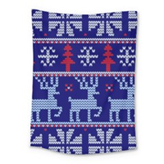 Knitted Christmas Pattern Medium Tapestry