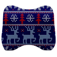 Knitted Christmas Pattern Velour Head Support Cushion