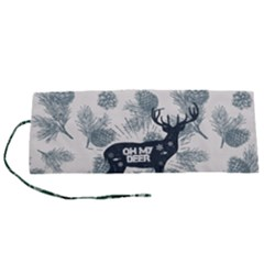 Oh My Deer Roll Up Canvas Pencil Holder (s)