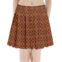 Ethnic Pattern Design Pleated Mini Skirt by KORATstoreroom