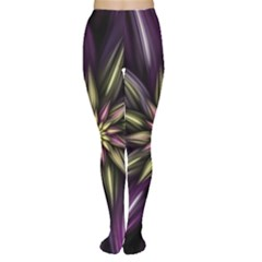 Fractal Flower Floral Abstract Tights