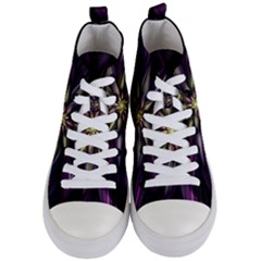 Fractal Flower Floral Abstract Women s Mid-top Canvas Sneakers