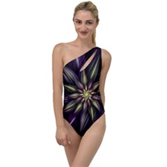 Fractal Flower Floral Abstract To One Side Swimsuit