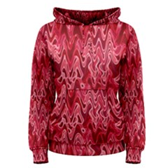 Background Abstract Surface Red Women s Pullover Hoodie