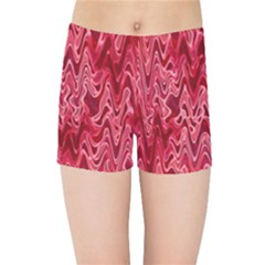 Background Abstract Surface Red Kids  Sports Shorts