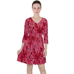 Background Abstract Surface Red Ruffle Dress