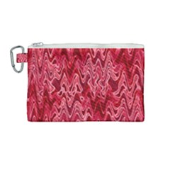 Background Abstract Surface Red Canvas Cosmetic Bag (medium)