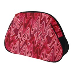 Background Abstract Surface Red Full Print Accessory Pouch (small)