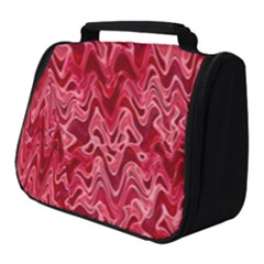 Background Abstract Surface Red Full Print Travel Pouch (small)