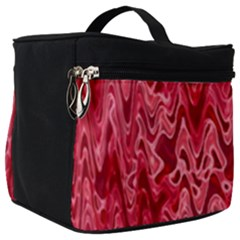 Background Abstract Surface Red Make Up Travel Bag (big)