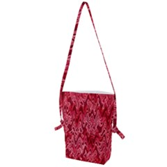 Background Abstract Surface Red Folding Shoulder Bag