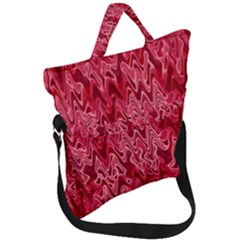Background Abstract Surface Red Fold Over Handle Tote Bag