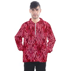 Background Abstract Surface Red Men s Half Zip Pullover