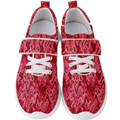 Background Abstract Surface Red Men s Velcro Strap Shoes