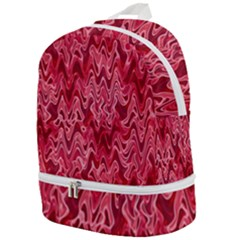 Background Abstract Surface Red Zip Bottom Backpack