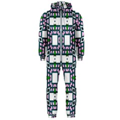 Illustrations Texture Modern Hooded Jumpsuit (men)