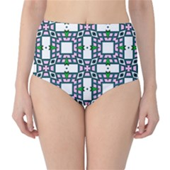 Illustrations Texture Modern Classic High Waist Bikini Bottoms