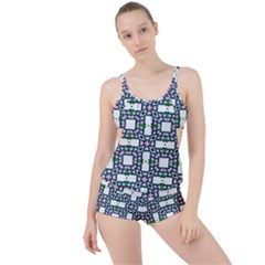 Illustrations Texture Modern Boyleg Tankini Set