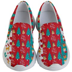 Funny Christmas Pattern Kids Lightweight Slip Ons by Vaneshart