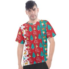 Funny Christmas Pattern Men s Sport Top
