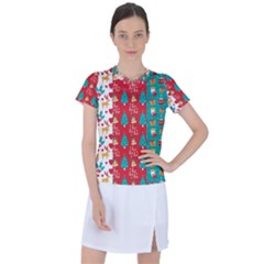 Funny Christmas Pattern Women s Sports Top