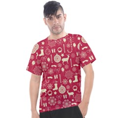 Christmas Pattern Background Men s Sport Top