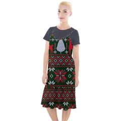 Christmas Pattern Knitted Design Camis Fishtail Dress