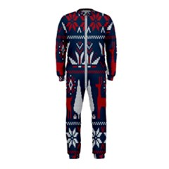Knitted Christmas Pattern Onepiece Jumpsuit (kids) by Vaneshart