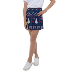 Knitted Christmas Pattern Kids  Tennis Skirt