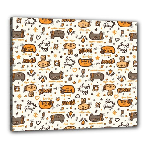 Animal Patterns Safari Canvas 24  X 20  (stretched)