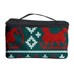 Beautiful Knitted Christmas Pattern Cosmetic Storage by Vaneshart