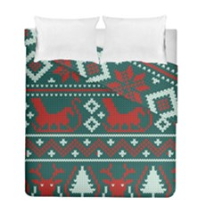 Beautiful Knitted Christmas Pattern Duvet Cover Double Side (full/ Double Size)