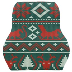 Beautiful Knitted Christmas Pattern Car Seat Back Cushion